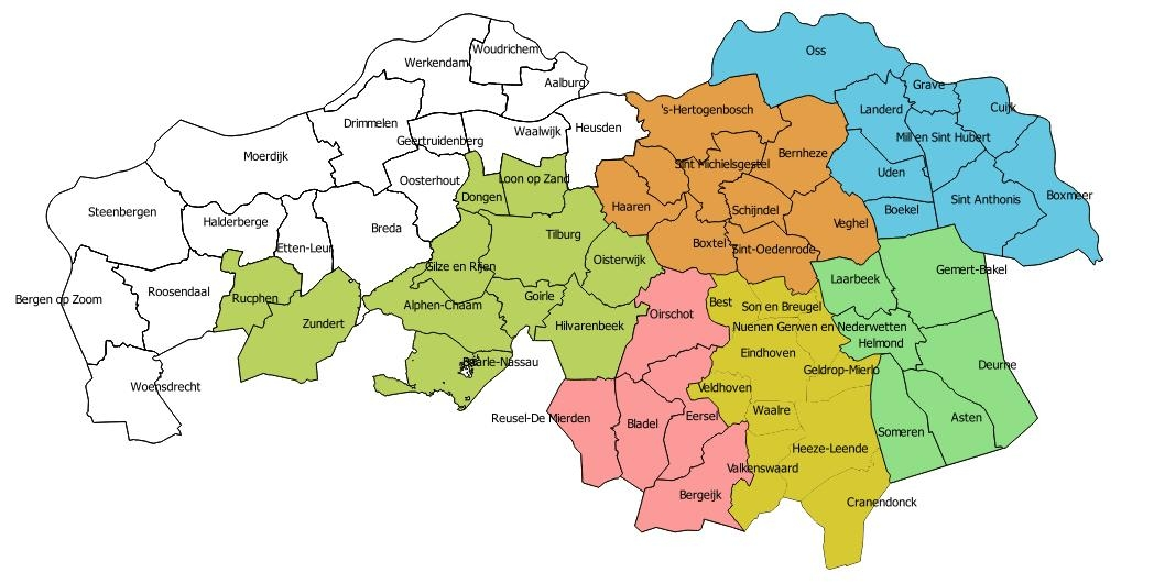 kaart west brabant Stalderingsloket geopend