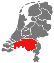 Position of Noord-Brabant within The Netherlands